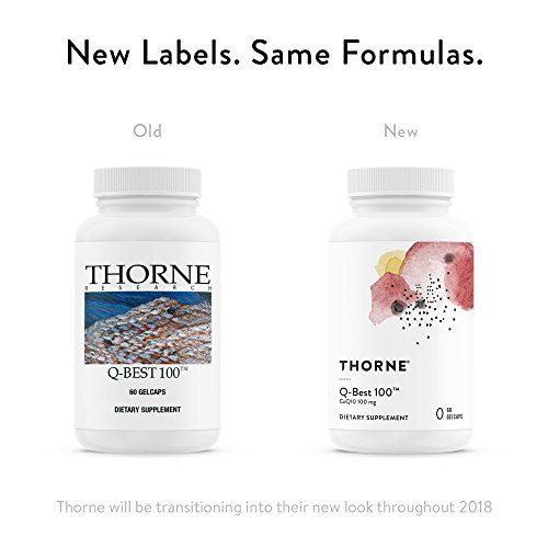 Thorne Research - Q-Best 100 - Patented Crystal-Free CoQ10 Supplement for Heart Health and Cellular Energy Production - 60 Gelcaps by Thorne Research (Image #2)
