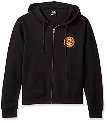 NHS Santa Cruz Classic Dot Hooded Girls Zip Sweats,Black,Small