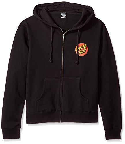 NHS Santa Cruz Classic Dot Hooded Girls Zip Sweats,Black,Large