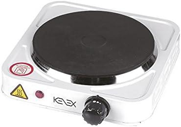 Kenex Fuego Cocina Eléctrica, 1000 W, Blanco: Amazon.es: Hogar