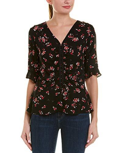 - Velvet Women's Micco Blouse, Cherry Blossom, Black, Floral, X-Small