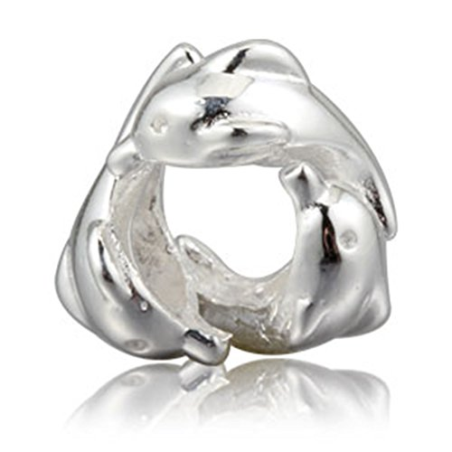 Animal Charm 925 Sterling Silver Family Dolphin Charms - Pandora Charm 925 Sterling Silver