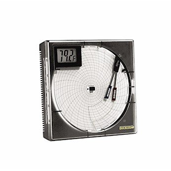 Dickson TH8P3 8'' Temperature/humidity Recorder With Probe, Dig. Display And Alarms