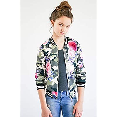 Truly Me Girls' Outerwear Bomber Jackets: Clothing
