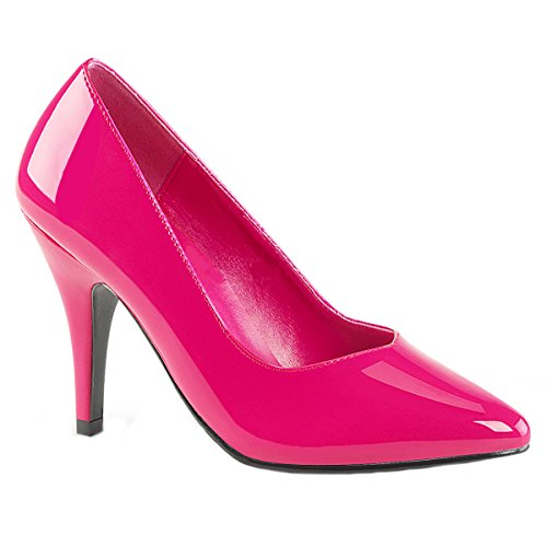 Pleaser Pink Label Womens Oversize Court Shoes Dream-420 Hot Pink Patent Big Size Hot Pink Patent