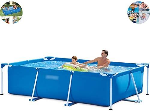 プール プール こども用、屋外大型フレームスイミングプール、 庭の大人と子供の娯楽プール、 夏の水パーティー (Color : Blue, Size : 14.8ft)