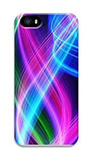iPhone 5 5S Case Abstract Colorful Lines 3D Custom iPhone 5 5S Case Cover