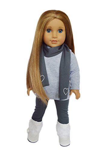 My Brittany's 3 Piece Grey Leggings Set for American Girl