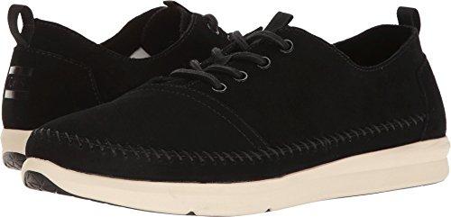 TOMS  Men's Del Rey Sneaker Black Suede/Whipstitch 7 D US (1067 Pull)