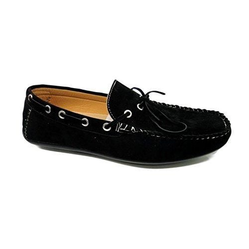 Galax Paris  Driving Shoe, Mocassins pour homme Noir noir