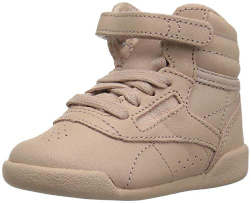 (Reebok Baby Freestyle Hi Sneaker, face-Bare Beige/White, 5.5 M US Toddler)
