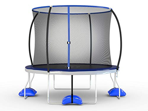 - TruJump 10 Foot Outdoor Trampoline with Steel Enclosure Ring