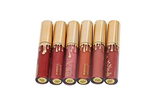 ankk0barras de labios Líquido mate brillo de labios permanente Delineador de labios Make Up 6piezas