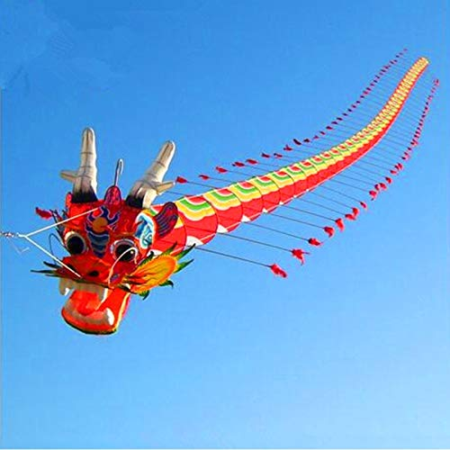 High Quality Chinese Traditional Dragon Kite 7m With Handle Line Weifang Kite Big Outdoor Tartan New colorful kites, adult children, breeze, easy to fly, flying high-end atmosphere, kite
