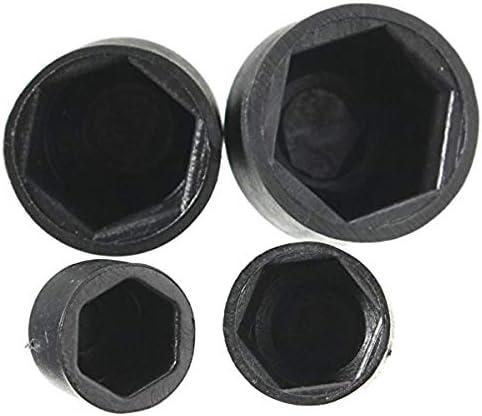 NHOUYAO Schwarz Dome Nylon Sechskantmutter Bolt Abdeckkappe Schutz Schutzkappe M6 M10 wasserdicht 10pcs M8 M6