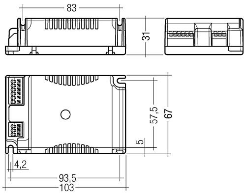 Tridonic EVG PC Einbauger/ät 1//2x26 32 42 Watt PL-C PL-T PL-H PRO