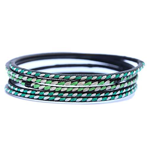 1 Recycled Bangle Bracelet - Style: Crocodile