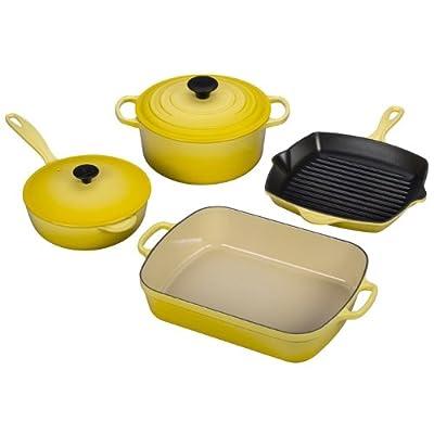 Le Creuset 6-Piece Signature Enameled Cast-Iron Cookware Set, Soleil