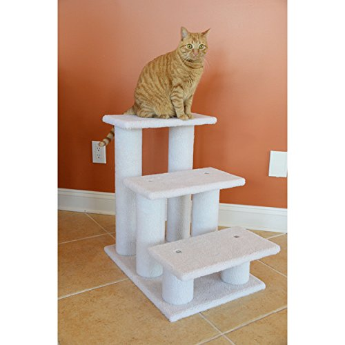 Easy To Assemble With Step-by-Step Instructions And Tools With This Armarkat White Pet Steps by Armarkat