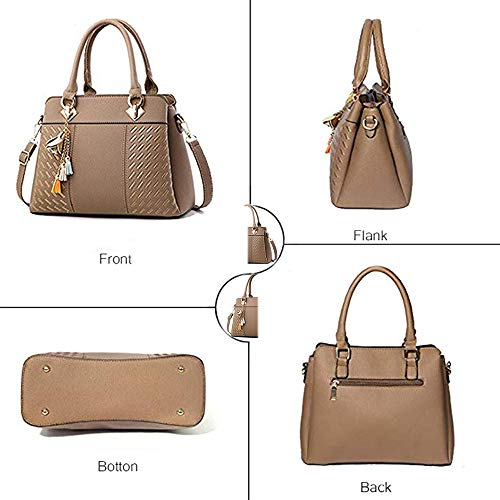 Ladies Satchel Tote Womens Bags Shoulder Khaki and Top Designer Bags Handbags Messenger Handle Bag Purses Hr8WUOr