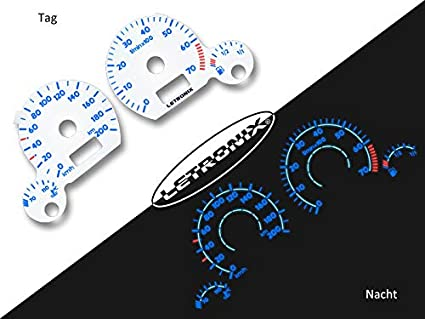 LETRONIX - Discos de tacómetro para coche Polo 6n 0-200km/h 7000U ...