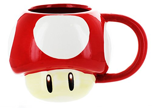 (Super Mario Bros. Power-Up Mushroom Molded Mug)