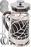 French Press Coffee Maker Cofina French Press Coffee Maker - 34 oz Large French Coffee Press Gift Bundle | Also Used as Tea Maker or Cold Brew Coffee Maker | with Extra Thick Borosilicate Glass Carafe in Gift Box