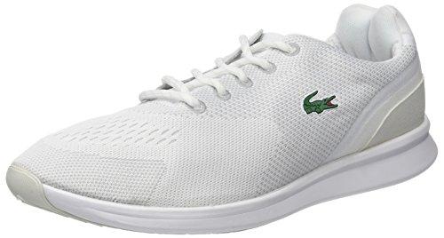 Lacoste Sneaker 1 Wht FRNT Off SPM 118 Wht Weiß Schwarz Runner Herren IrqYI
