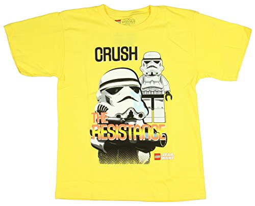 LEGO Star Wars Boys' Crush The Resistance Stormtrooper T-Shirt (Large, 10/12)