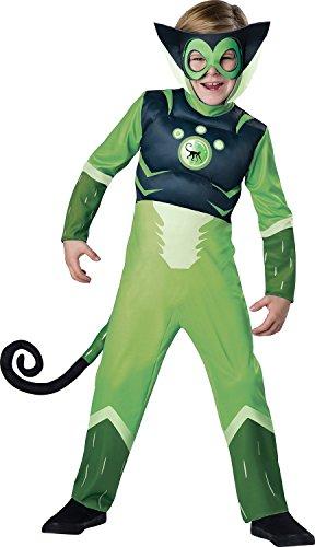 Wild Kratts Spider Monkey-Green Costume, (Wild Kratt Costume)