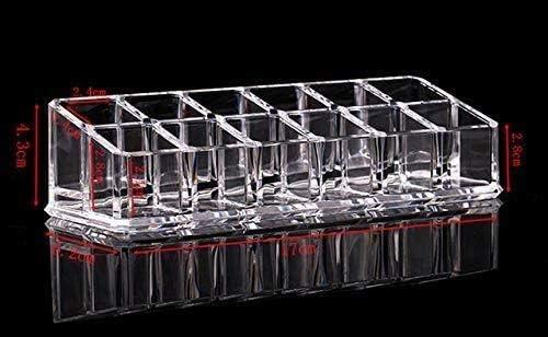 XWYSSH主催 アクリル口紅グリッド口紅化粧品収納ホルダーメイク主催の各種項目表示ボックスの化粧品ストレージボックス透明なストレージボックス XWYSSH