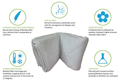 Incontinence Bed Pad Waterproof Mattress Sheet Protector Machine Washable (52'' X 34'') Highly Absorbent Bed Wetting Cover | Extra Soft Bamboo Sleeping Comfort | Kids and Adults by Seffer (Image #7)