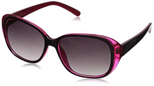 Circus by Sam Edelman Women's CC110 OXPK Oval Sunglasses, Black & Pink, 54 - Sams Sunglasses