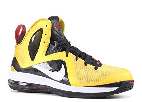 Nike Lebron 9 Ps Eliten Menns Basketball Sko 516958-700 Varsity Mais, Hvit-svart-sport Rød