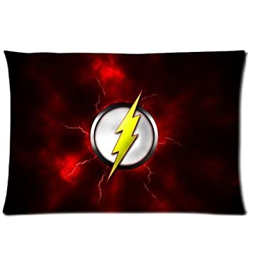amazon com custom flash superhero logo home decorative pillowcase