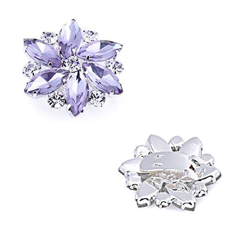 ElegantPark AJ Damen Passenden Fashion Tanzschuh Party Schuhe Clutch Tasche Hat Kleider Strass Schuh clips 2 St¨¹ck Lavendel
