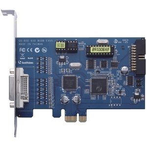 (GeoVision GV-600 Video Capture Card - Functions: Video Capturing, Video Recording, De-interlace - PCI - 720 x 480 - NTSC, PAL - VGARetail - GV600-16)