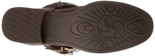 White Mountain League Damen Rund Mode Mitte Calf Stiefel Neu/Display Dark Brown