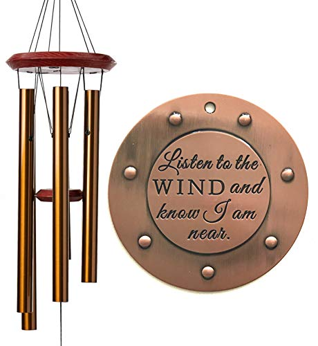 DIRECT SHIPPING SALE Large Sympathy Memorial Deep Tone Wind Chime Gift after loss Copper Rush Shipping for Funeral Loss in Memory of Loved One Listen to the Wind Christmas Gift