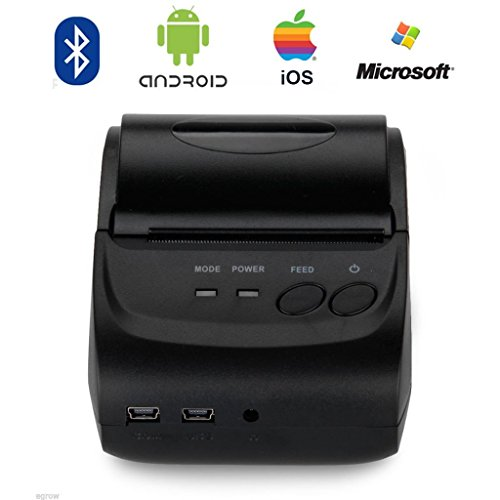 Portable Mini Thermal Printer 58mm Bluetooth Pocket Mobile Phone POS Thermal Receipt Printer Support IOS & Android & Windows (Portable printer)