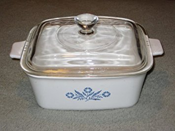 Vintage Corning Ware 1 1/2 Quart Cornflower Blue Rectangle Baking Dish Casserole w/ Lid - Made In USA ()