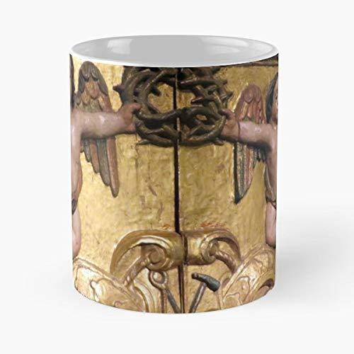 Angel Colonial Archangel Cherub - White -coffee Mug- Unique Birthday Gift-the Best Gift For Holidays- 11 Oz.