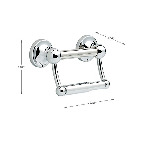 Delta DF704PC Bath Hardware Accessory Toilet Paper Holder with Assist Bar Polished Chrome