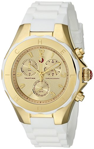 MICHELE Women's MWW12F000031 Tahitian Jelly Bean Analog Display Analog Quartz White Watch - Michele Tahitian Jelly Bean