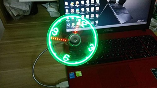 OnetwoUSB-LED-Clock-Fan-with-Real-Time-Display-FunctionUSB-CLOCK-FANSilver1-year-warranty