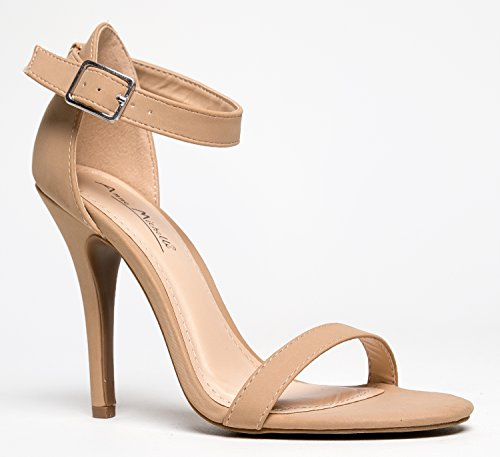 Anne Michelle Femmes Enzo-01n Pompes Chaussures Nude Nubuck-01