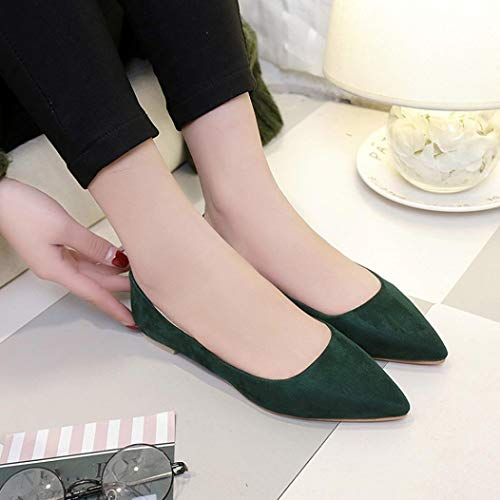 Parti NEEDRA Haut Chaussures Pointu Plat Printemps amp;H Hiver DéContractéEs Femme Mode on Automne Vert Bas Fille Slip S Chaussures av5qwgTq