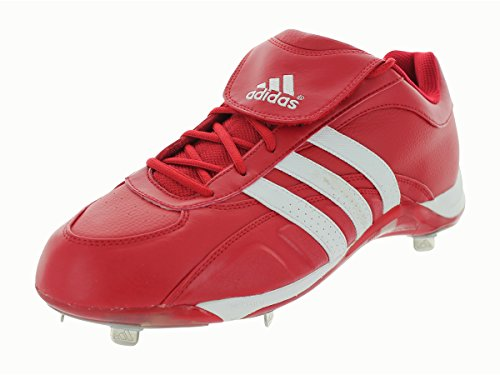 5 Low Metal Baseball Cleat - Adidas Men's EXCELSIOR 5 Low Baseball Metal Cleats ~ University Red / White (14)