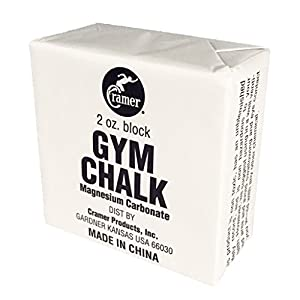 Cramer Gym Chalk for Gymnastics, Weightlifting, Climbing, and Pole Fitness, Climbing Gear, Lifting Chalk, Hand Chalk, Chalk Block, Rock Climbing Equipment, Magnesium Carbonate, White