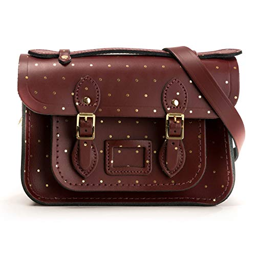 The Cambridge Satchel Company Mini Satchel Gold dot on Oxblood One Size